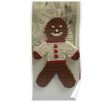 Gingerbread Cross Stitch Magnet Poster