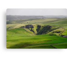 Winnats Pass from Mam Tor Canvas Print
