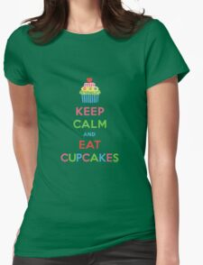 Keep Calm and Eat Cupcakes 5  Womens Fitted T-Shirt