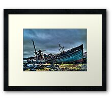 Distressed Framed Print