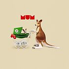 Animal Art - I Love Mum by Michael Murray