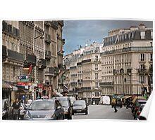 Rue Monge, Paris, France (Aug 2008) Poster