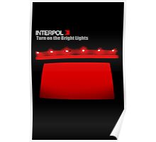 New INTERPOL Turn On The Bright Lights Rock Band Men's Black T-Shirt Poster