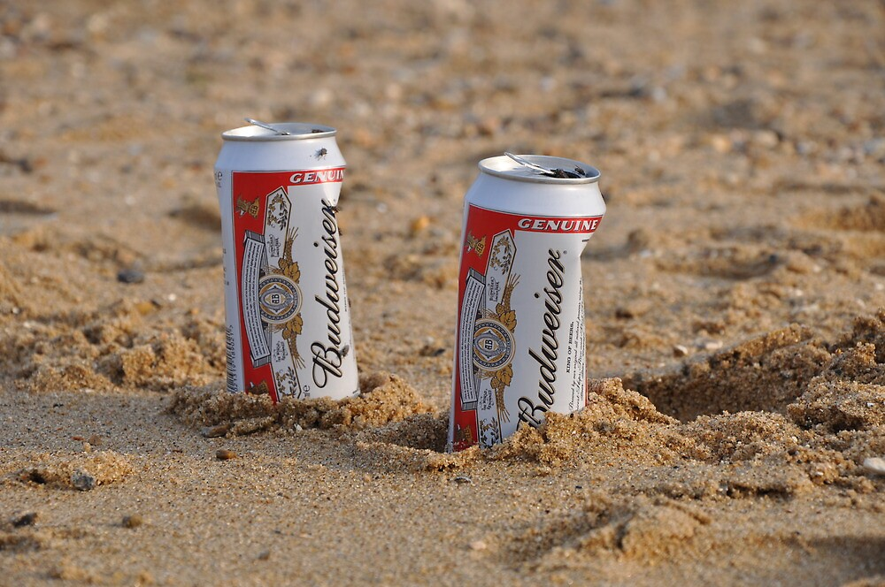 Beer on the beach by heather1990