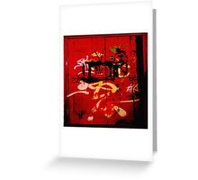 Urban Scrawls Graffiti - TV Greeting Card