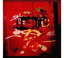 Urban Scrawls Graffiti - TV Photographic Print