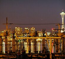 seattle at night. by trounoir