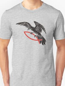 Raven with fish... Unisex T-Shirt