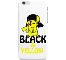 Black and Yellow ( Pika Pika ) Iphone Case ! iPhone Case/Skin