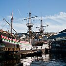 The Golden Hind, Brixham by Lissywitch