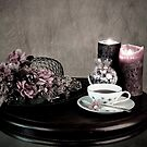 Olde Time Tea Party Setting for One by Sherry Hallemeier