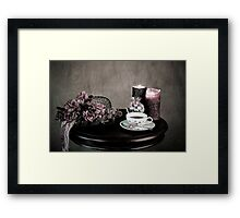 Olde Time Tea Party Setting for One Framed Print