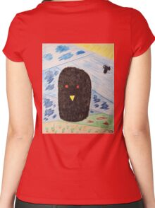 Bird Makes Fancy Self Portrait Women's Fitted Scoop T-Shirt