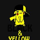 Black and Yellow ( Pika Pika ) Iphone Case ! ( Black ) by deadpoolRKO
