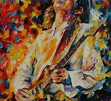 STEVIE RAY VAUGHAN  - LEONID AFREMOV by Leonid  Afremov