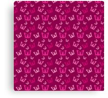 Breast Cancer Butterfly Ribbons Canvas Print