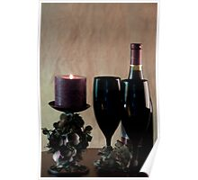 Wine For Two by Candlelight Poster