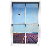 Window Art 4 - Lavender Field Poster