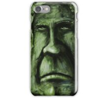 Fat Face - Green iPhone Case/Skin