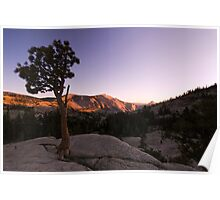 Olmstead Point Sunset - Yosemite National Park, CA Poster