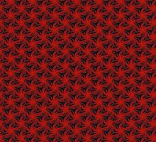 Floral Red Background by violetcold