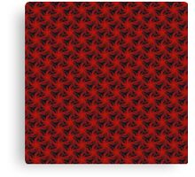 Floral Red Background Canvas Print
