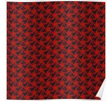 Floral Red Background Poster