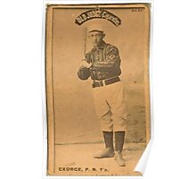 Benjamin K Edwards Collection Bill George New York Giants baseball card portrait 003 Poster