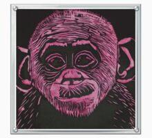 Bonobo Linocut Print Kids Tee