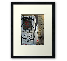 Creative Loafing Newspaper Distribution Box the 1% AND THE 99% Framed Print