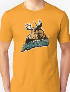 New MANITOBA MOOSE AHL Hockey Throwback Style Men's White T-Shirt T-Shirt