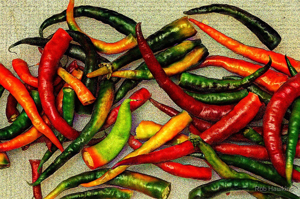 Chillies by Rob Hawkins
