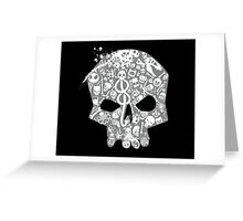 Skull famous heads Greeting Card