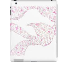 Geometric landscape pink drawing iPad Case/Skin