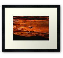 Phoenix Sky Harbor Airport Sunset, Boeing 737 Framed Print