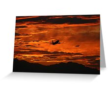 Phoenix Sky Harbor Airport Sunset, Boeing 737 Greeting Card