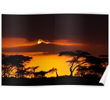 African Sunset - Namibia Poster