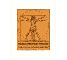 Vitruvian Zombie Art Print