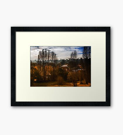 Mount Torrens Late Autumn  Framed Print