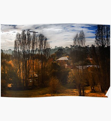 Mount Torrens Late Autumn  Poster