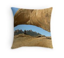 Rock Arch at Spitzkoppe - Namibia Throw Pillow