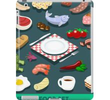 Diet Set Food Isometric iPad Case/Skin
