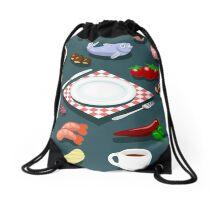 Diet Set Food Isometric Drawstring Bag