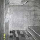Ghosts- silouettes 1 point perspective by Decembersend