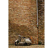 Bruges Vespa Photographic Print