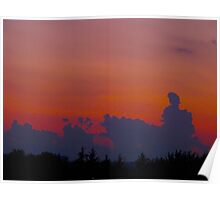 Cloud Silhouettes Poster