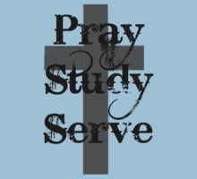 Pray Study Serve Kids Clothes