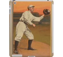 Benjamin K Edwards Collection Admiral Schlei New York Giants baseball card portrait iPad Case/Skin