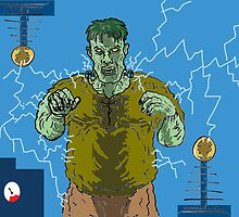 Frankenstein's monster gets the juice ! ( Frank's zapper ) by mattycarpets