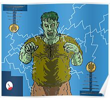 Frankenstein's monster gets the juice ! ( Frank's zapper ) Poster